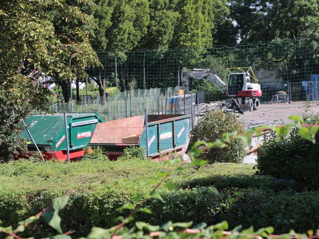 Sportplätze im Umbau im Rapoldipark.